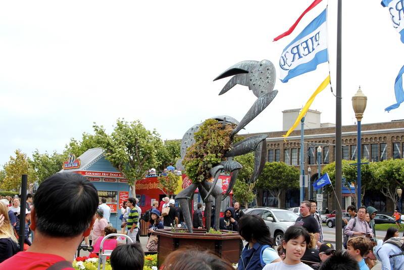 Fisherman's Wharf district's Pier 39 crab statue
