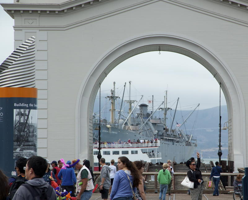 WWII troop transport birthed and open to the public at Fisherman's Wharf in San Francisco