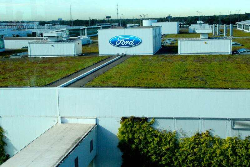 Ford F-150 Factory's green roof in Dearborn, Michigan