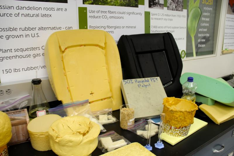 50% recycled PET poyol at Ford's R&D lab