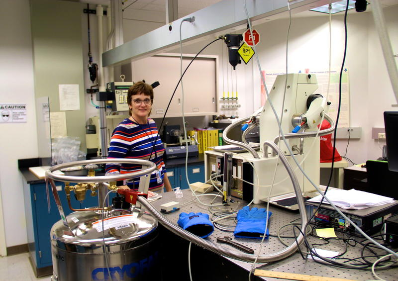 Janice Tardiff in Ford's Research and Innovation lab in Dearborn, Michigan