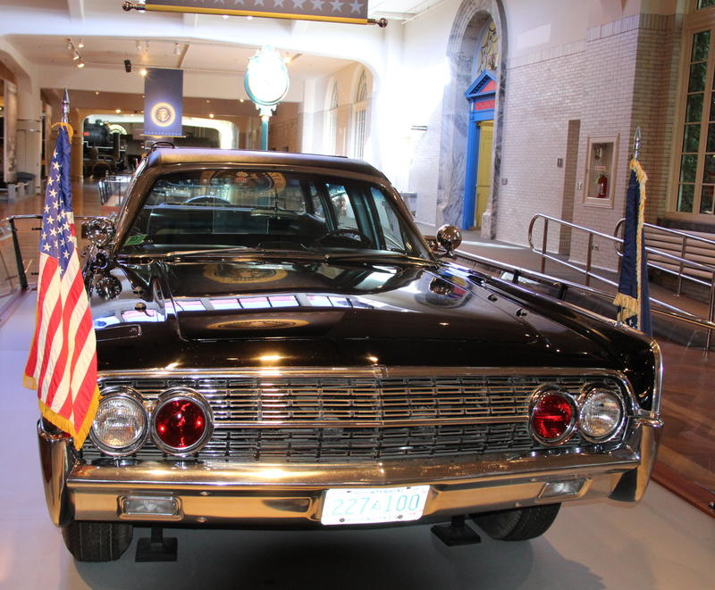 JFK's 1961 Lincoln Presidential Limo on display at The Henry Ford