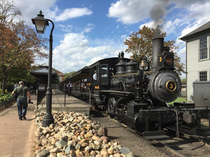 Historic steam train rides part of the fun at Greenfield Village in Dearborn, Michigan