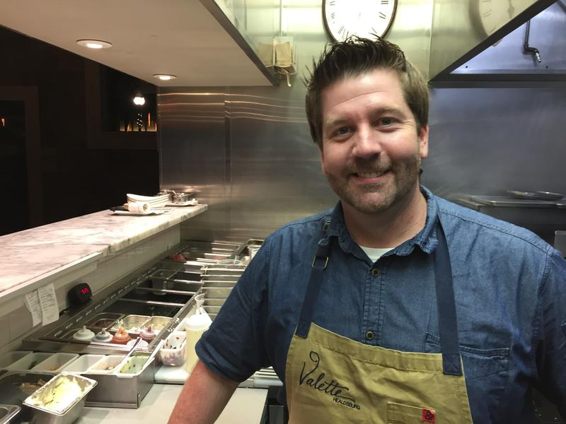 Dustin Valette chef at Valette Restaurant, Healdsburg. Cailfornia