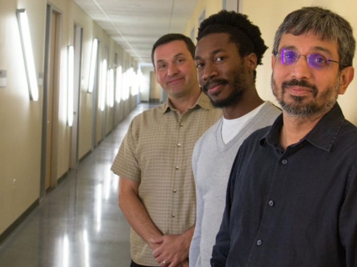 Chris Kello (left), Butovens Médé (middle) and Ramesh Balasubramaniam (right) have found a new way to analyze animal sounds, human speech and music.