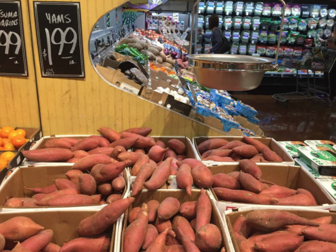 Sweet potatoes marketed as yams at a Nugget Market in Sacramento.