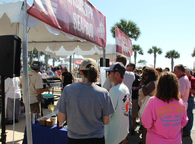 The Hangout Oyster Cook Off held every November in Gulf Shores, Alabama draws thousands from near and far