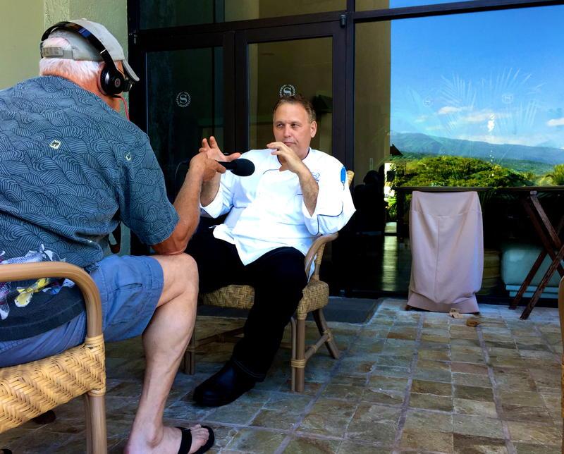 Executive Chef George Gomes at the Sheraton Kona on the Big Island of Hawaii