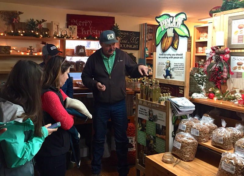 Olan Tisdale, owner of Fredericksburg Pecan Company shares his passion for the Texas pecan