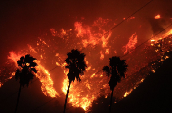 Like the October North Bay fires, the Thomas Fire prompted middle-of-the-night evacuations.