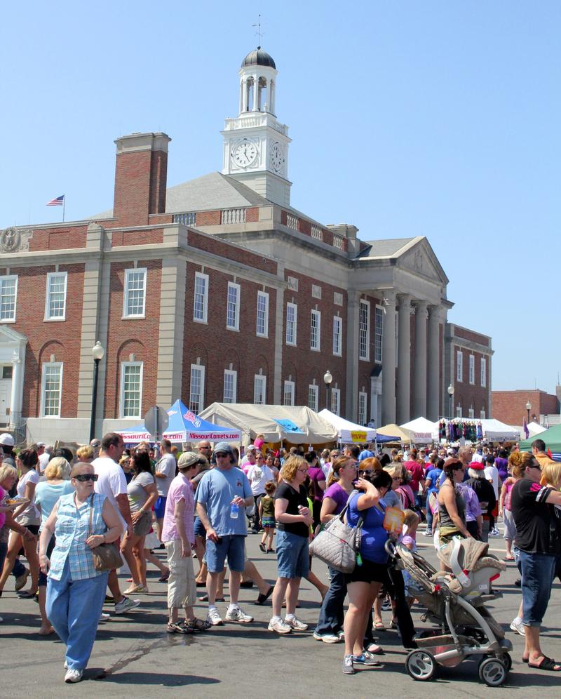 Festival time in downtown Independence, Missouri