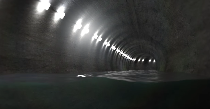 A screenshot of the proposed tunnel from a California Fix video.