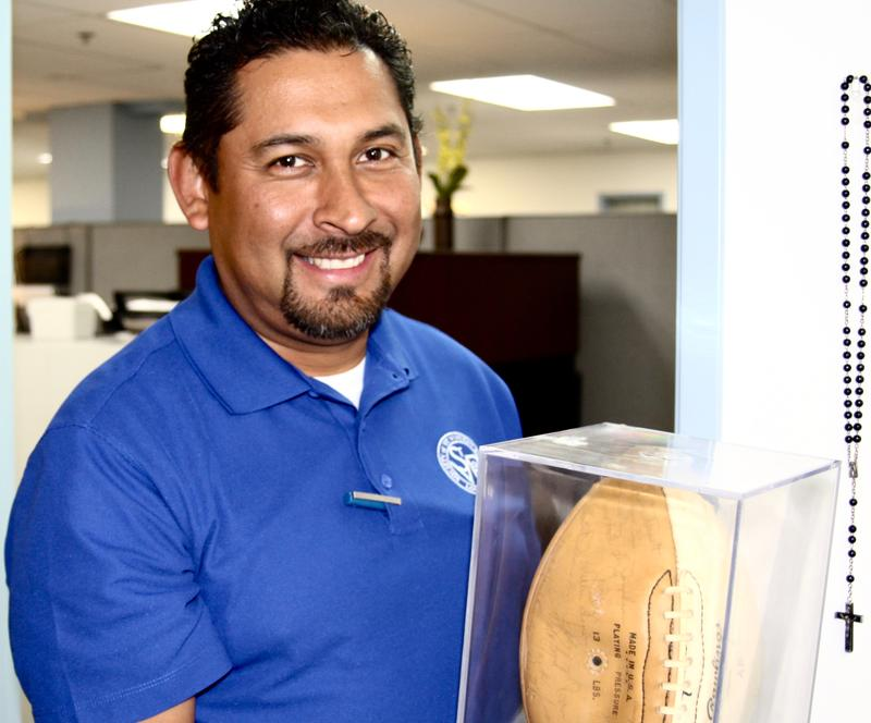 Alfred Rodriguez, Director of Operations at Saint Vincent de Paul's Los Angeles Thrift Store