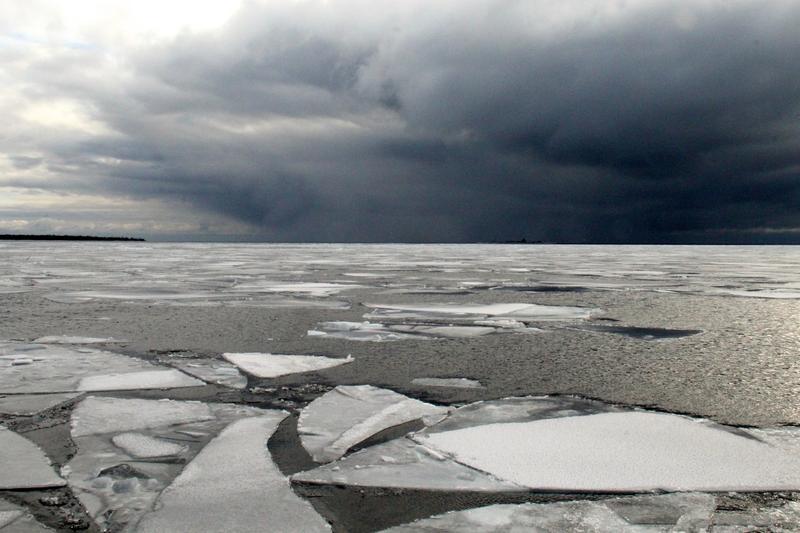 Traversing the straits between Green Bay and Lake Michigan en route to Washington Island