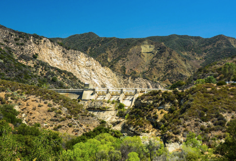 Santa Barbara County's Gibraltar Dam is rated high risk.