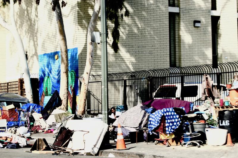 The heart of Skid Row in the heart of Los Angeles