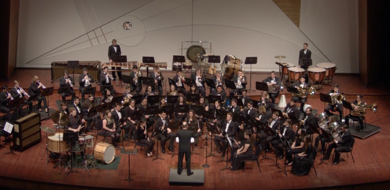 The Cal Poly Wind Ensemble and soloist Astaire performing Ogino's Concerto for Percussion on March 3, 2018.