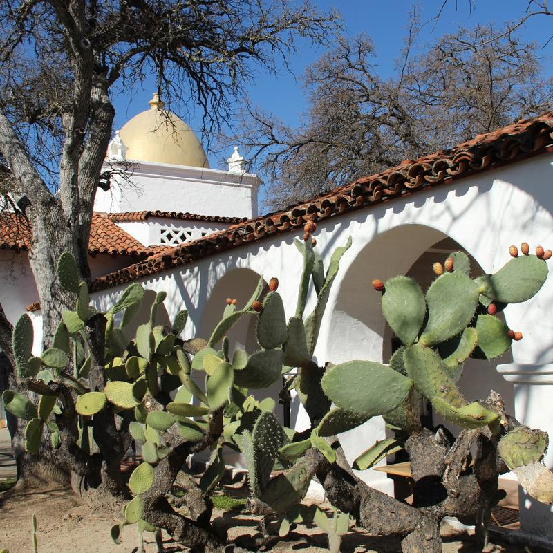CLassic Moorish and Mission Revival influences abound at the classic- Julia Morgan designed Hacienda