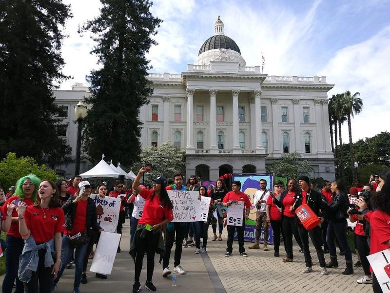 Demonstrators came from across the state to rally for more CSU funding.