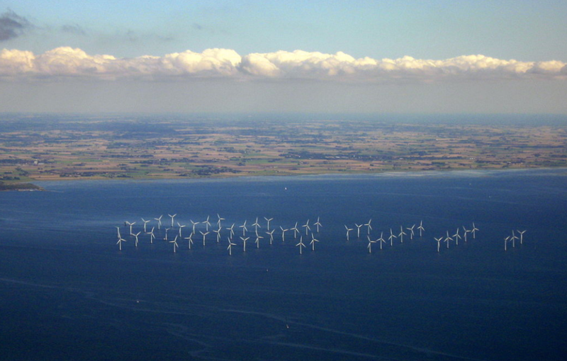 The Lillgrund Wind Farm, 6.2 miles off the coast of southern Sweden.