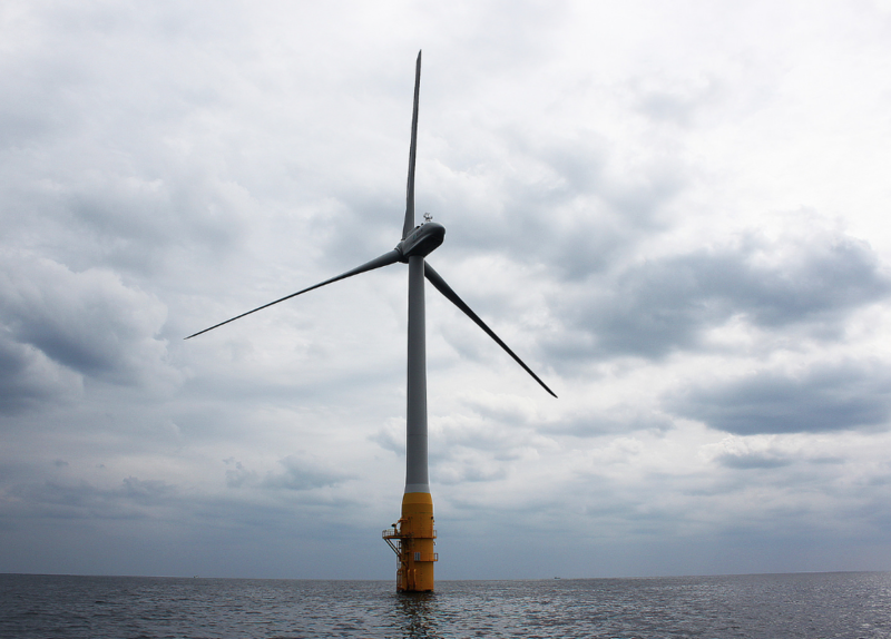 The Goto floating offshore wind turbine in Japanese waters.