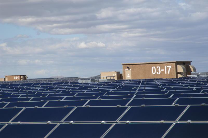 Solar arrays at San Luis Obispo County's Topaz Solar Farm.