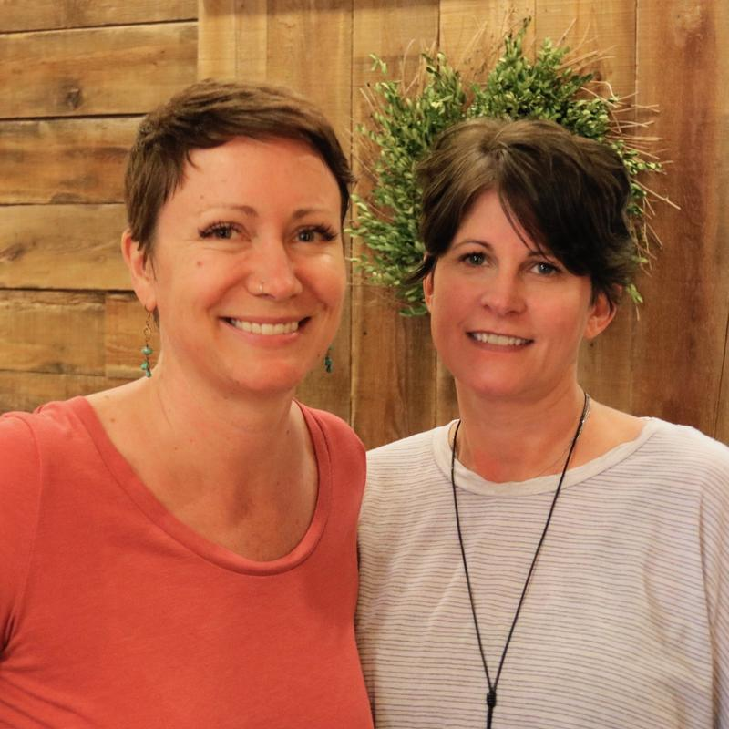 Shelly Nystrom (left) owner of Eco Candle Company  in Downtown Appleton Wisconsin with associate Shelby Bradshaw