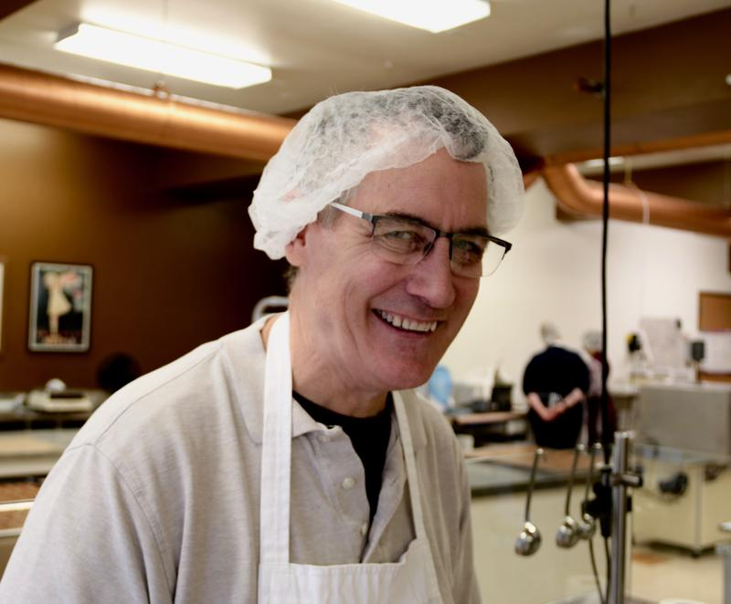 Paul Garvey owner of Wilmar's Chocolates in downtown Appleton, Wisconsin