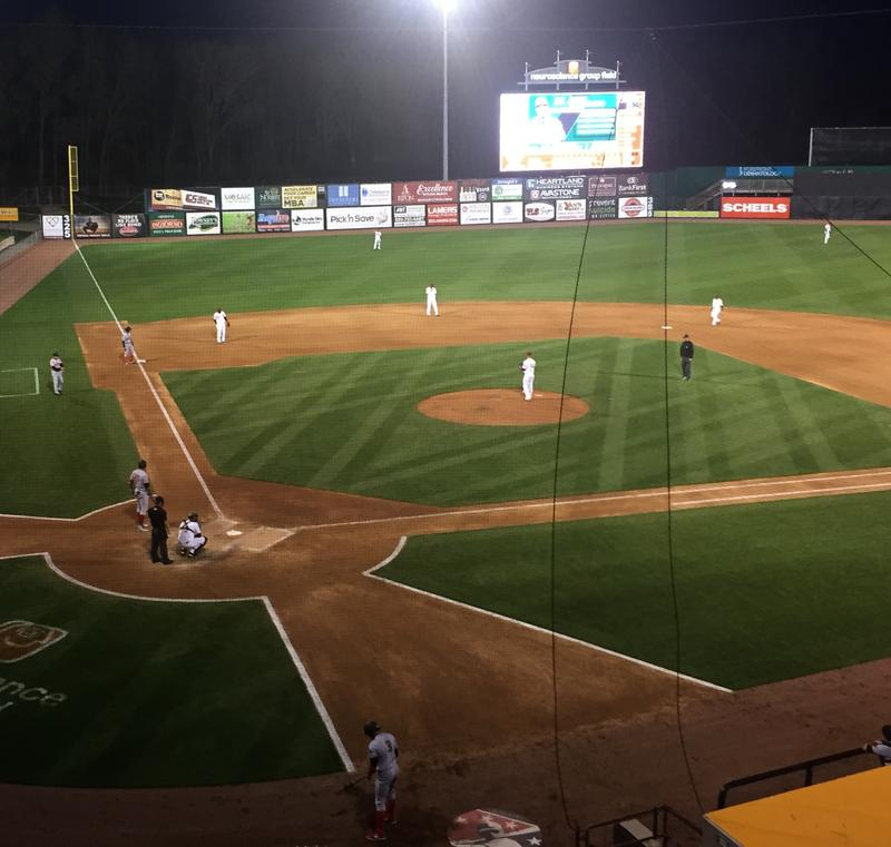 Wisconsin Timber Rattlers on their home turf in Appleton, Wisconsin.