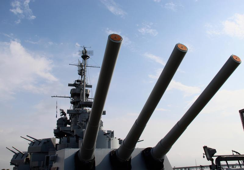 Big guns aboard the USS Alabama