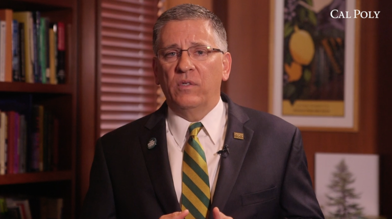 Cal Poly President Jeffrey Armstrong announced the state investigation in a video released Friday.