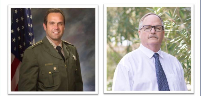 Sheriff candidate Greg Clayton (right) is challenging incumbent Ian Parkinson.