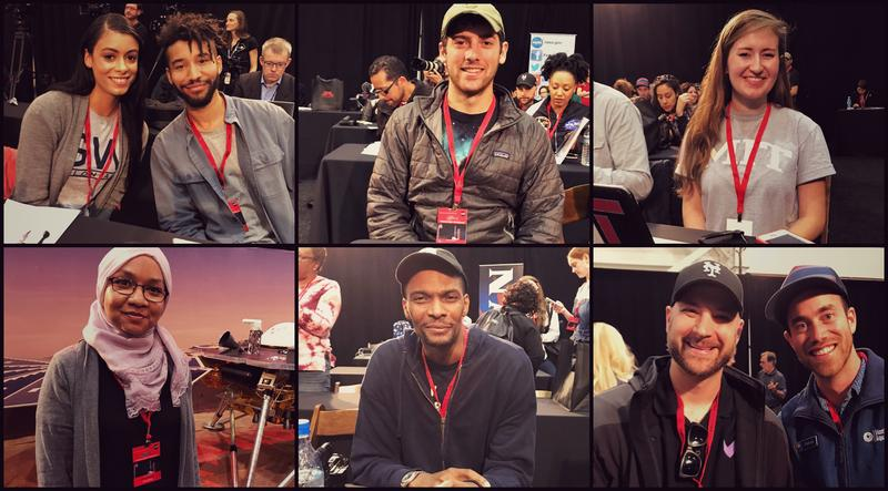 NASA Social members at the Mars InSight launch (top row, left to right): Fig O'Reilly, Michael LaMartin, Justin Hartney, Madeline Garcia; (bottom row, left to right): Sarah Mohammed, Chris Bosh, Eric Monacelli, Patrick Webster