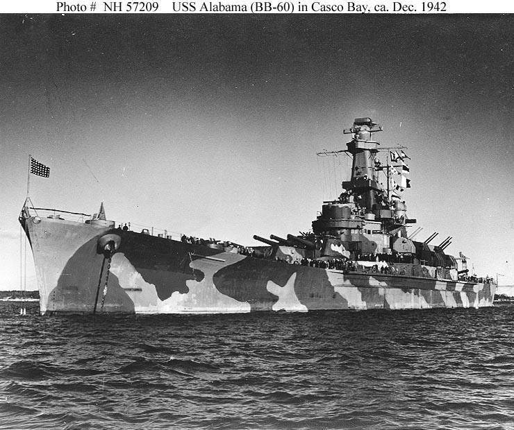 USS Alabama December 1942