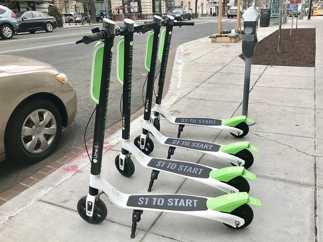 LimeBike electric scooters were the subject of an emergency ordinance passed by the Santa Barbara city council Tuesday.