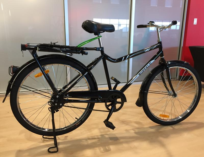 World Bicycle Relief's Buffalo Bike on display at SRAM San Luis Obispo facility.