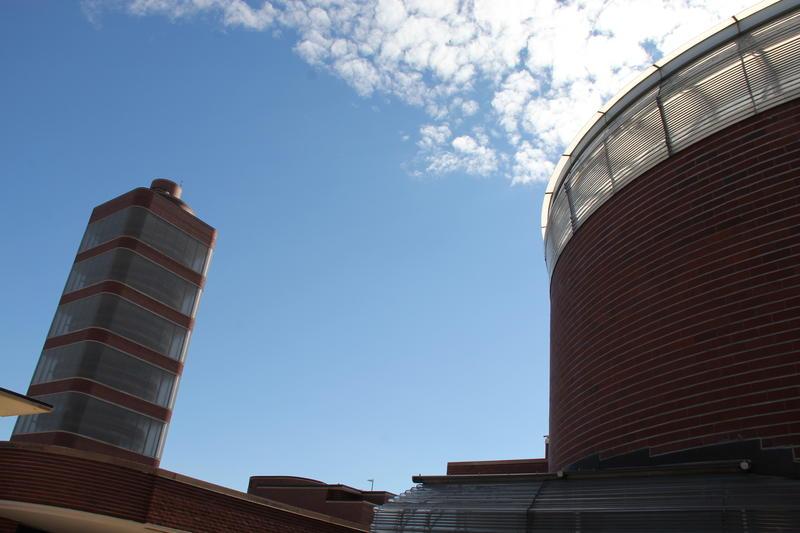 Frank Lloyd Wright's legendary SC Johnson headquarters structure in Racine, Wisconsin