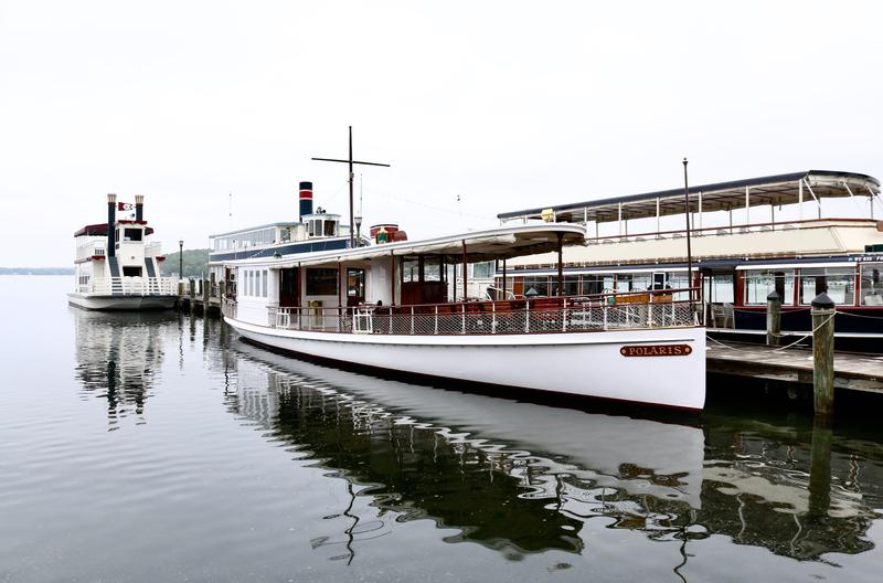 Lake Geneva Cruise Line vessels ready to take people out on lake adventures