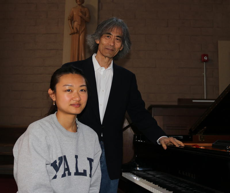 Karin Kei Nagano (left) and her father Kent Nagano
