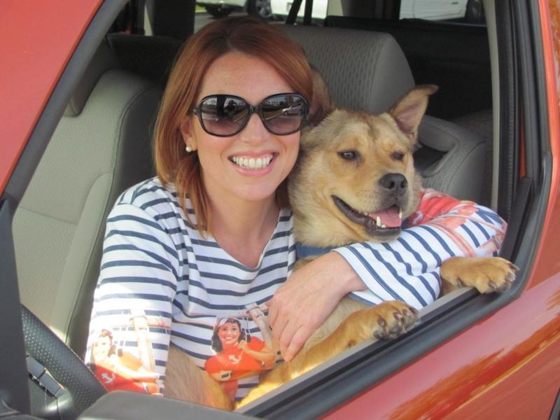 Belinda Jones and Bodie her companion road tripping along the West Coast