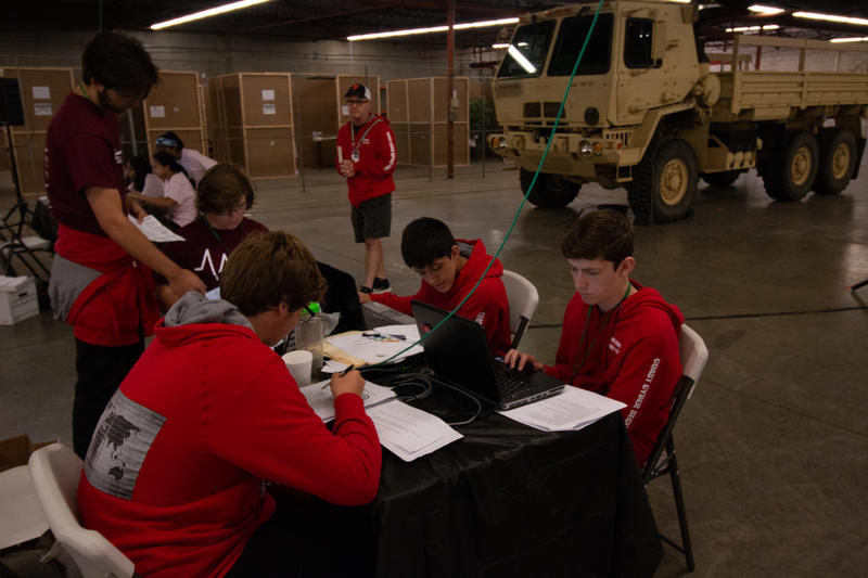 The Coast Union High School team from Cambria  races against the clock to stop a ransomware virus during the California Cyber Innovation Challenge at Cal Poly this week