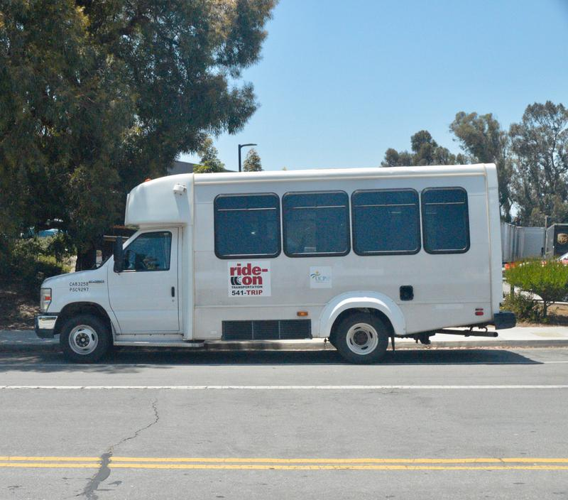 One of Ride-On's shuttle buses.
