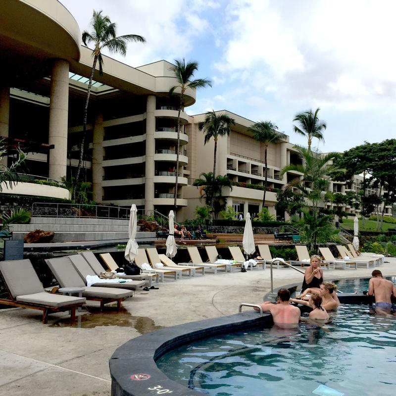 Sublime soaking at Hapuna's adults-only horizon pool.