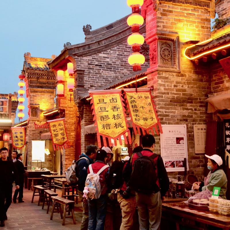 Hancheng Ancient Market, Shaanxi Province China.