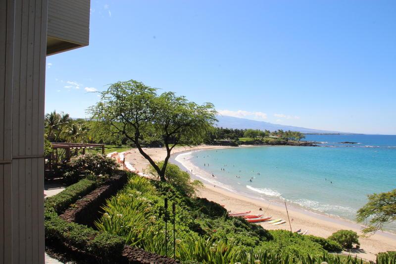 Kohala Coast looking toward Kailua Kona from the Mauna Kea Resort.