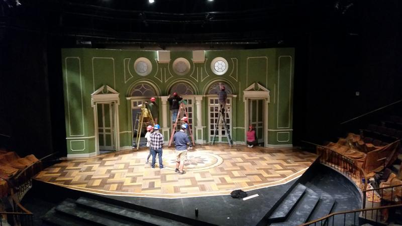 "The set of the play ""Arcadia."""