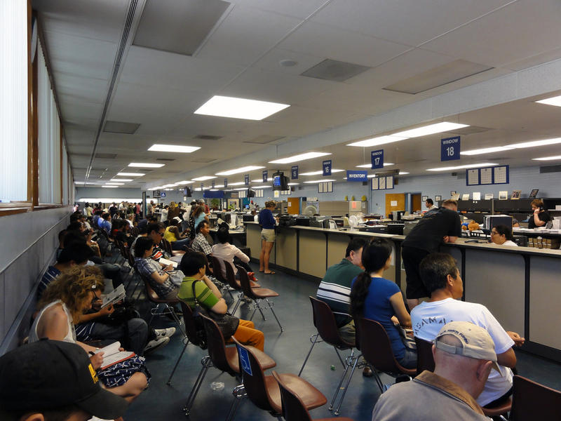 DMV officials say they are working on ways to combat wait times, which have sharply increased across the state over the past year.