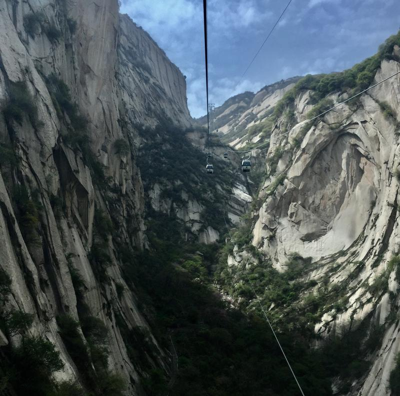 Mount Huashan, in Shaanxi Province, is considered one of China's five great mountains.