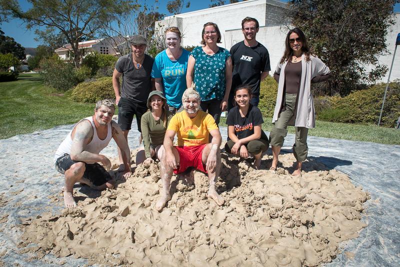 Participants in the 2018 Clay Stomp at Cuesta Community College near San Luis Obispo.