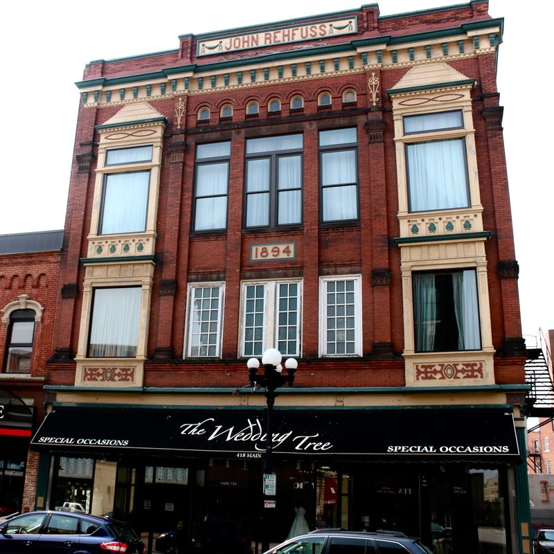 Historic structures abound in La Crosse, Wisconsin.